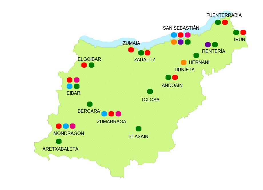 Mapa servicios Gautena